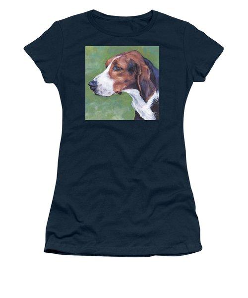 Women's T-Shirt (Junior Cut) featuring the painting Finnish Hound by Lee Ann Shepard