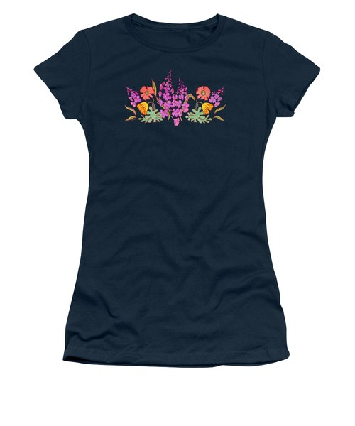 Fireweed And Poppies Cascade Women's T-Shirt (Junior Cut) by Teresa Ascone