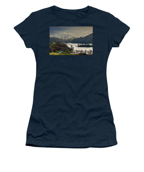 First Light Over Rydal Water In The Lake District Women's T-Shirt