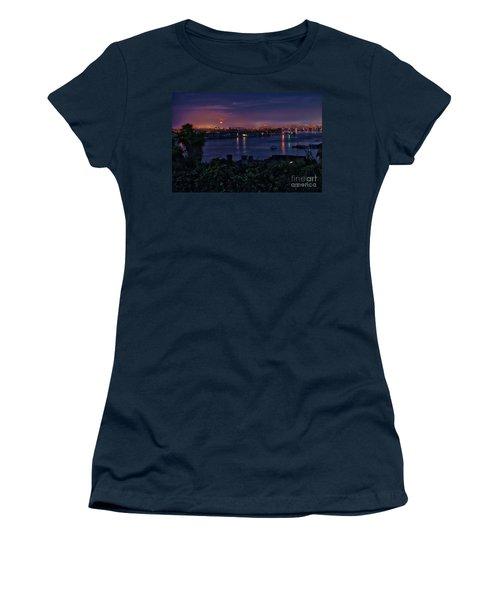First Moonset Of 2018 Women's T-Shirt