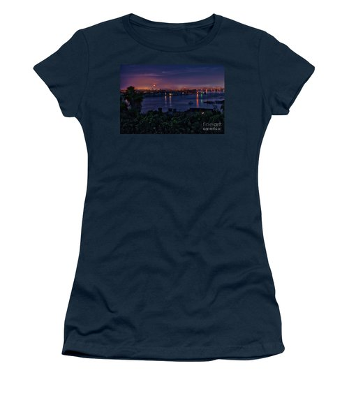 First Moonset Of 2018 Women's T-Shirt