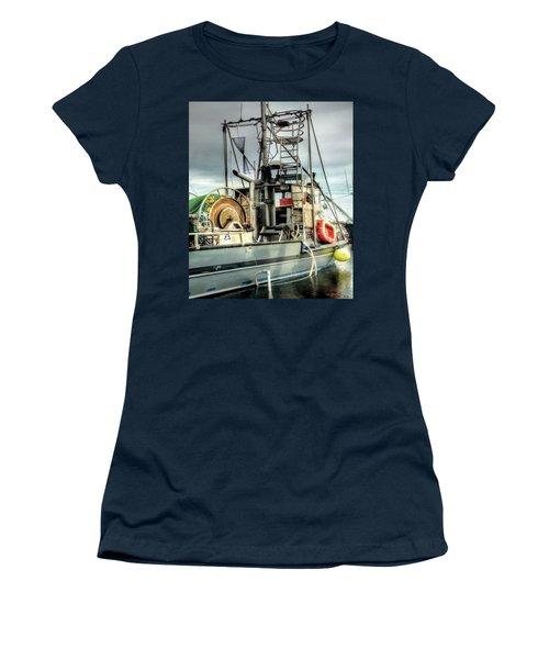 Fishing Boat Rigging Women's T-Shirt (Junior Cut) by Greg Sigrist