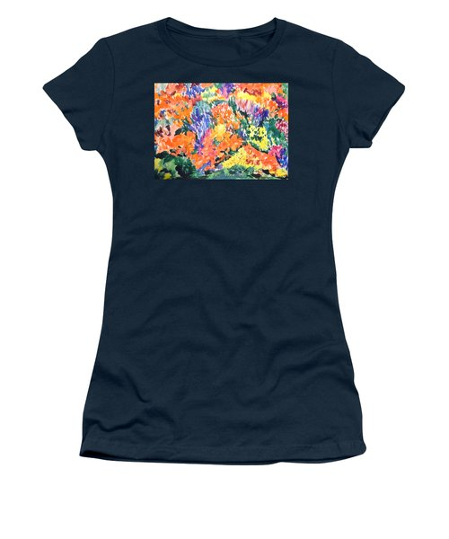 Flora Ablaze Women's T-Shirt (Junior Cut) by Esther Newman-Cohen