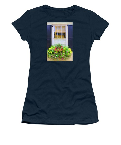 Flowers And Reflections Women's T-Shirt (Athletic Fit)