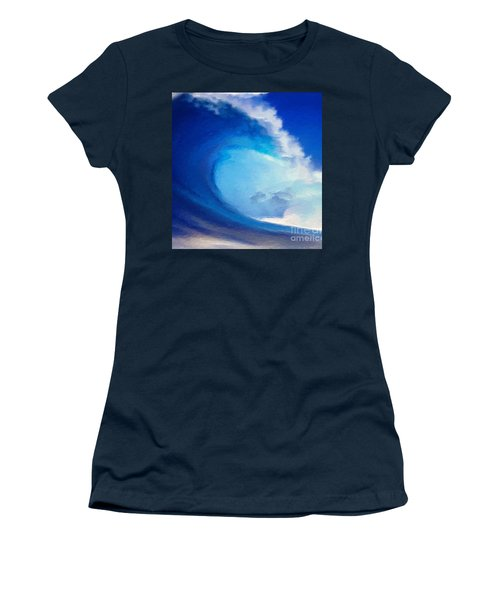 Women's T-Shirt (Junior Cut) featuring the digital art Fluid by Anthony Fishburne