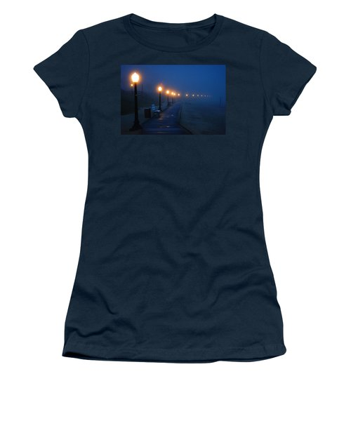 Foggy Boardwalk Blues Women's T-Shirt (Junior Cut) by Bill Pevlor