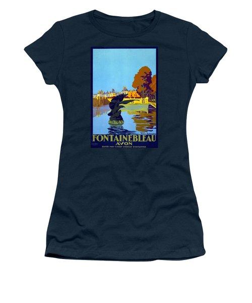 Fontainbleau Avon - Vintage Travel Poster Women's T-Shirt