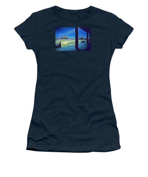 Women's T-Shirt (Junior Cut) featuring the photograph Forbidden City Porch by Dennis Cox ChinaStock