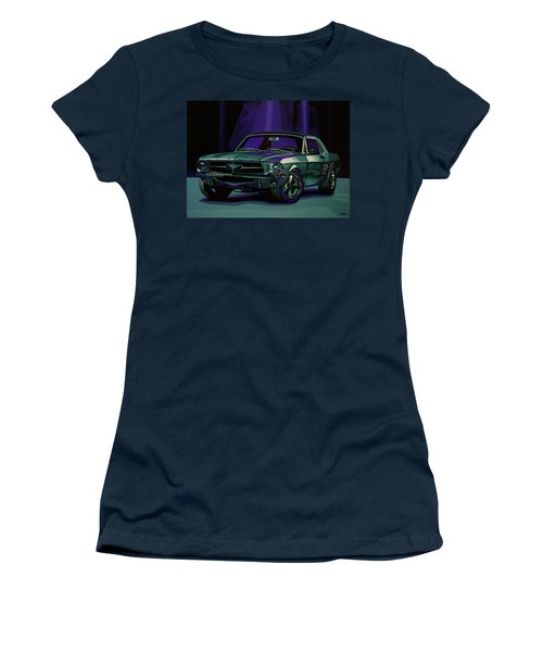 Ford Mustang 1967 Painting Women's T-Shirt