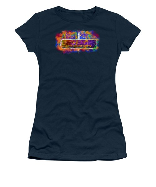 Forgive Brick Blue Tshirt Women's T-Shirt (Junior Cut) by Tamara Kulish