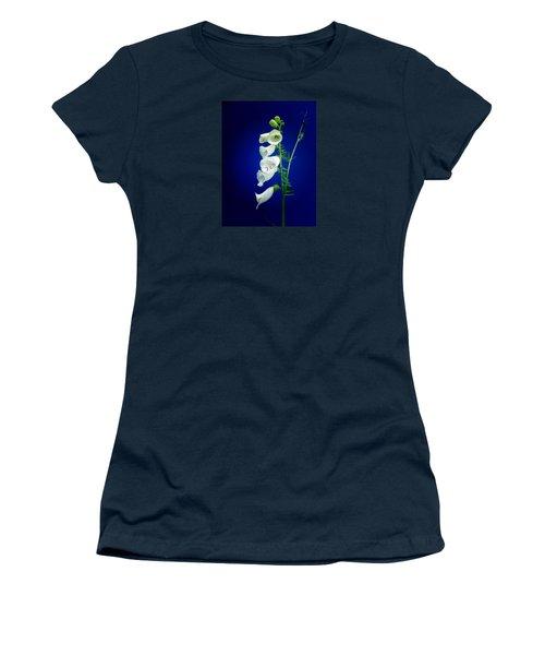 Foxgloves On  Blue Women's T-Shirt (Junior Cut)