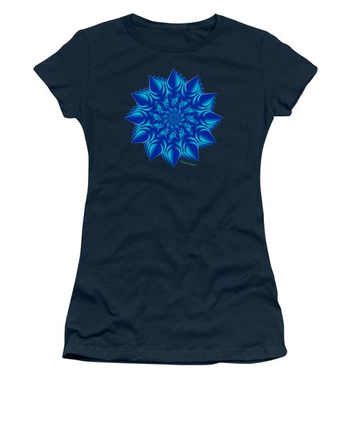Fractal Flower In Blue Women's T-Shirt