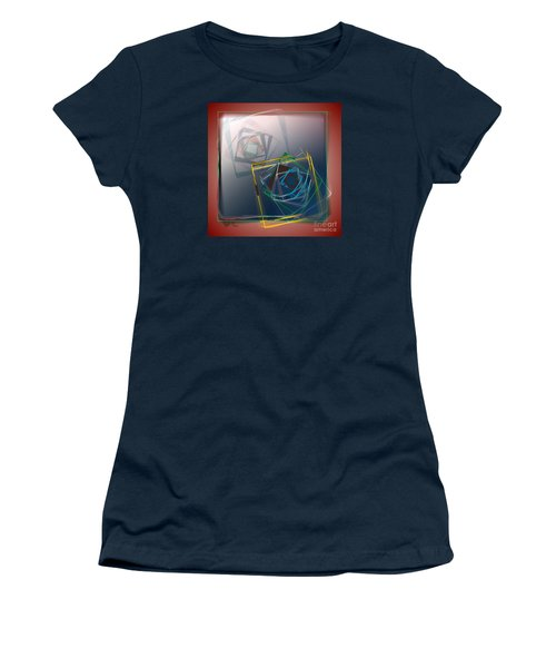 Women's T-Shirt (Junior Cut) featuring the digital art Fragments Of Movement by Leo Symon