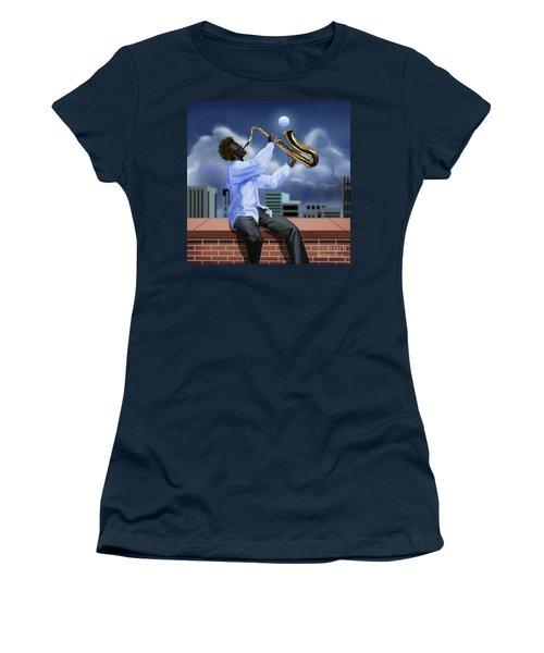Free Jazz Moon Women's T-Shirt