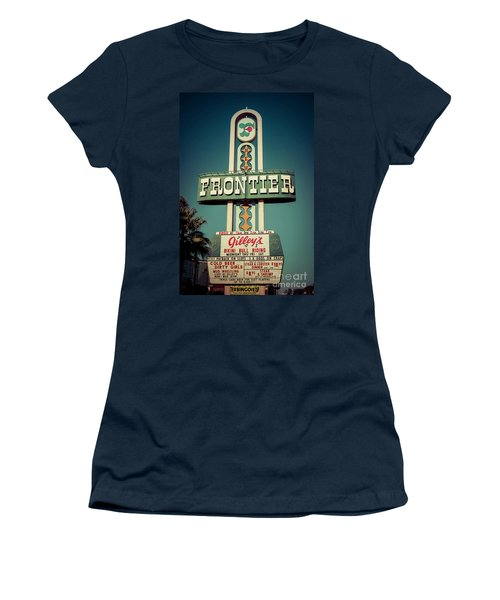 Frontier Hotel Sign, Las Vegas Women's T-Shirt
