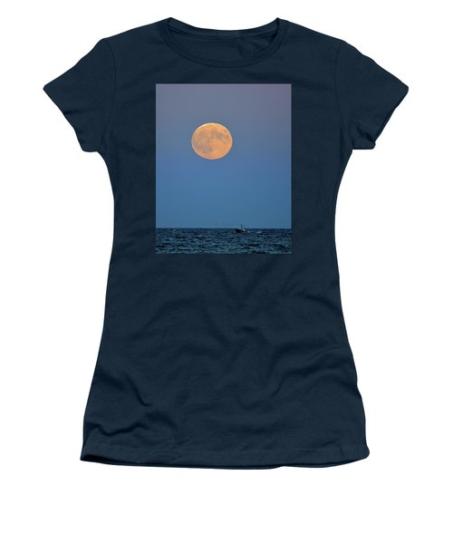 Full Blood Moon Women's T-Shirt (Junior Cut) by Nancy Landry
