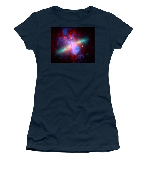 Women's T-Shirt (Junior Cut) featuring the photograph Galaxy M82 by Marco Oliveira