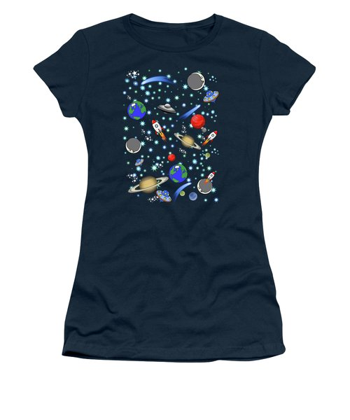 Galaxy Universe Women's T-Shirt (Athletic Fit)