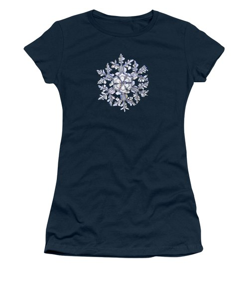 Women's T-Shirt featuring the photograph Gardener's Dream, White On Black Version by Alexey Kljatov