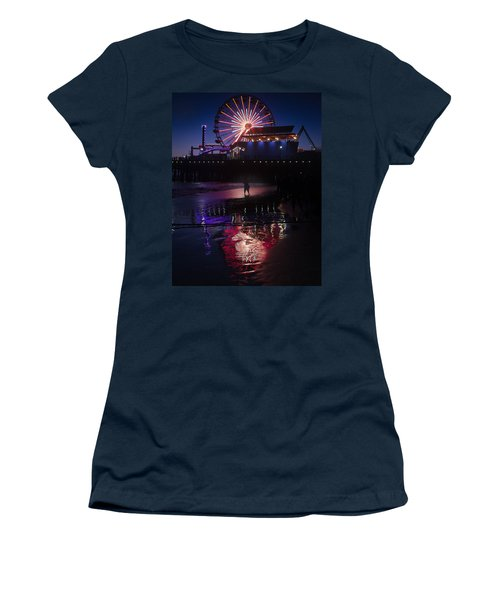 Women's T-Shirt (Athletic Fit) featuring the photograph Get The Shot by Lora Lee Chapman
