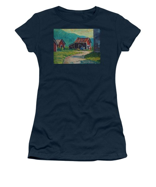 Getting Ready For Winter Women's T-Shirt (Junior Cut) by Len Stomski