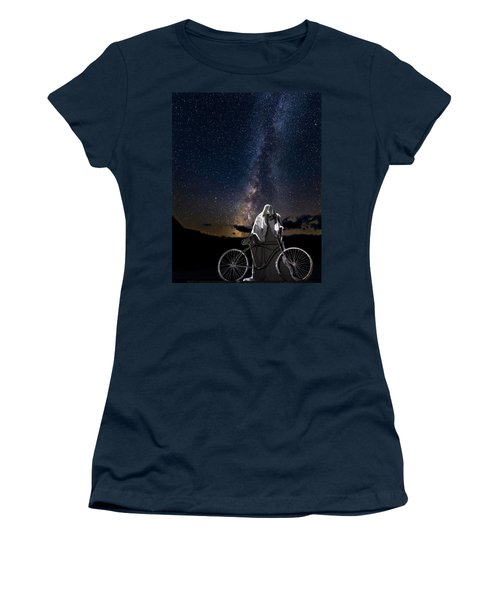 Ghost Rider Under The Milky Way. Women's T-Shirt