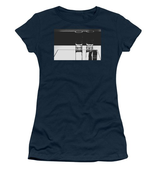 Glasses On A Table Bw Women's T-Shirt