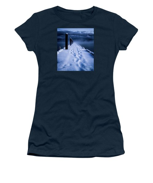 Women's T-Shirt (Junior Cut) featuring the photograph Going To The End by Mitch Shindelbower