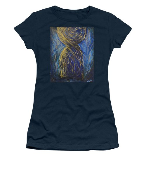 Gold And Blue Latte Stone Women's T-Shirt