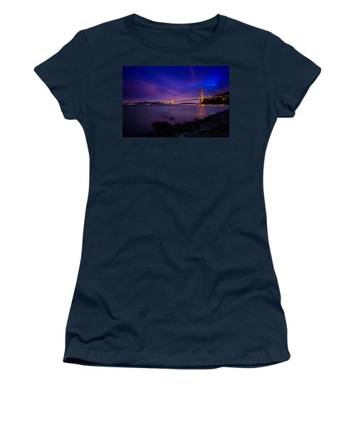 Golden Gate Bridge At Night Women's T-Shirt