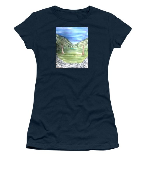 Golfing In Glacier Women's T-Shirt (Athletic Fit)