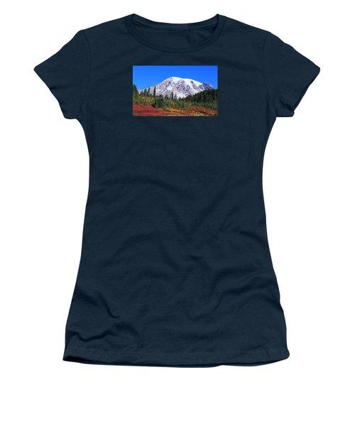 Women's T-Shirt (Junior Cut) featuring the photograph Good Morning Mount Rainier by Lynn Hopwood