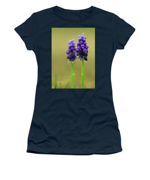 Grape Hyacinth Women's T-Shirt (Junior Cut) by Joseph Skompski