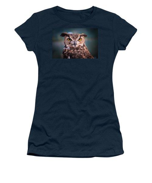 Great Horned Owl Women's T-Shirt (Junior Cut) by Ralph Vazquez