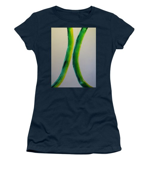 Green And Yellow Women's T-Shirt (Junior Cut) by Barbara Yearty