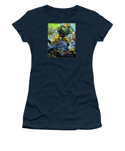 Women's T-Shirt (Junior Cut) featuring the digital art Green Bay Packers by Walter Fahmy