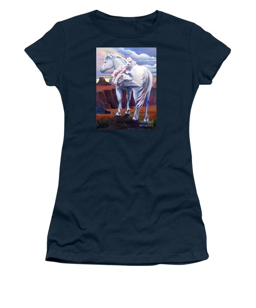 Women's T-Shirt (Junior Cut) featuring the painting Grounded by Pat Burns