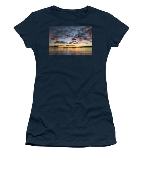 Women's T-Shirt featuring the photograph Harbor Sunrise by Heather Kenward