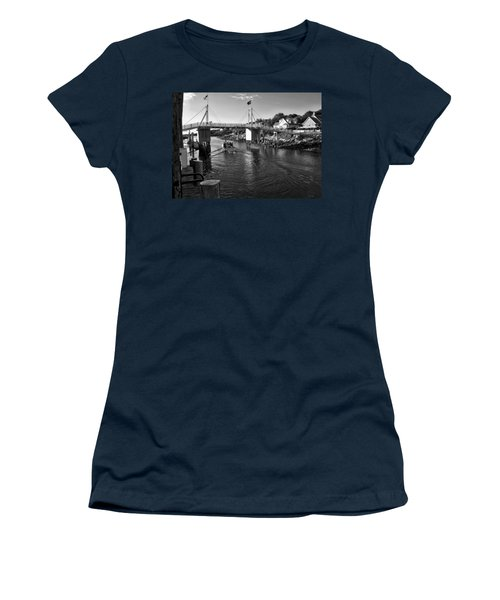 Heading To Sea - Perkins Cove - Maine Women's T-Shirt (Athletic Fit)