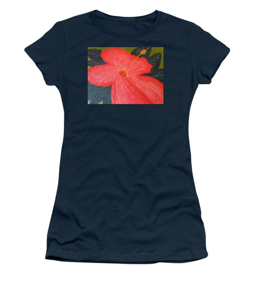 Hibiscus Women's T-Shirt (Junior Cut) by Barbara Yearty