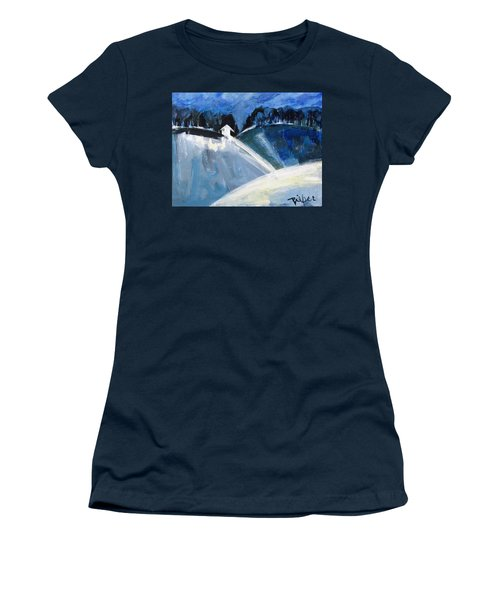 Hillside In Winter Women's T-Shirt