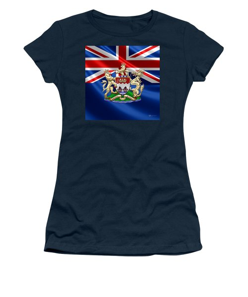Hong Kong - 1959-1997 Coat Of Arms  Women's T-Shirt (Junior Cut) by Serge Averbukh