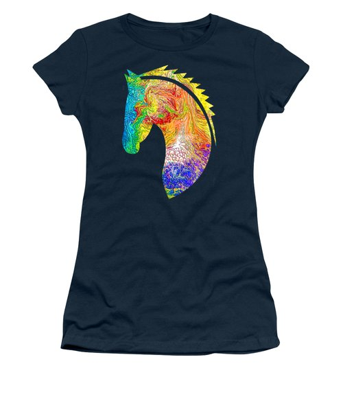 Horse Colorful Silhouette Women's T-Shirt