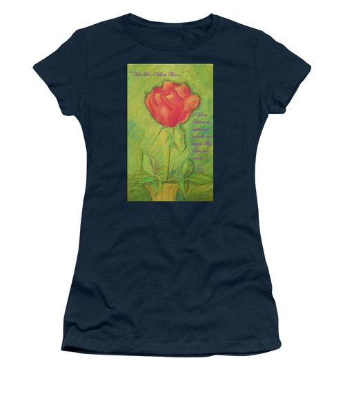 Women's T-Shirt (Junior Cut) featuring the drawing How Do I Love Thee ? by Denise Fulmer
