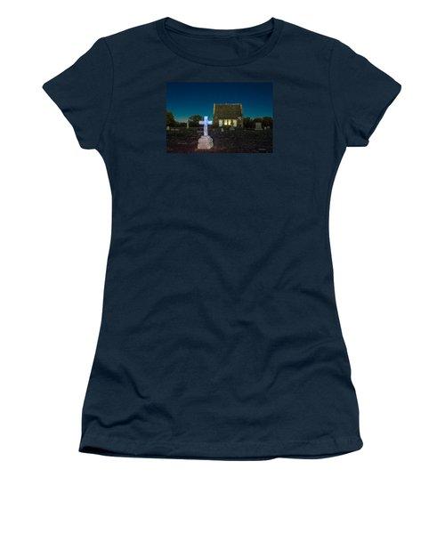 Women's T-Shirt (Junior Cut) featuring the photograph Hughes Children At Riverside Cemetery by Stephen  Johnson