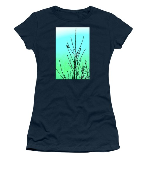Hummingbird After Rain Women's T-Shirt (Athletic Fit)