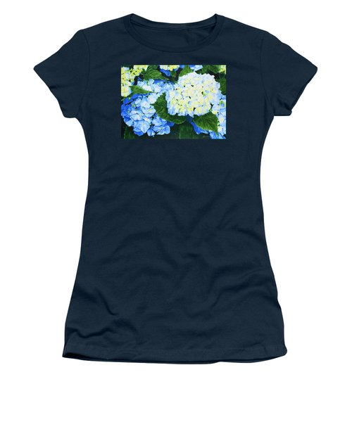 Hydrangeas Women's T-Shirt (Athletic Fit)