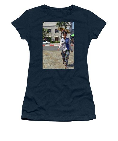 Women's T-Shirt (Junior Cut) featuring the digital art I Can Balance by Eva Kaufman