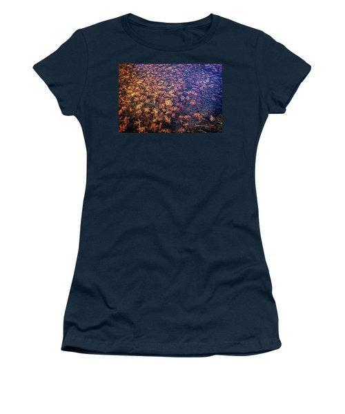 Ice On Oak Leaves Women's T-Shirt