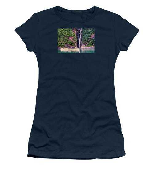Iceberg And Waterfall Women's T-Shirt (Athletic Fit)
